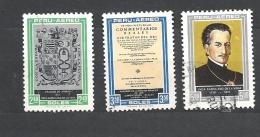 PERU    -   - 1969 Airmail - Garcilaso De La Vega Commemoration  723/725 Hinged + Used - Peru