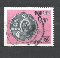 PERU    -   -1970 Airmail - The 24th Anniversary Of UNICEF 738 Used - Peru