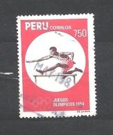 PERU    -   1984 Olympic Games - Los Angeles, USA # 1254  Hurdling   Used - Peru