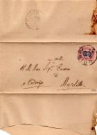 1878 LETTERA CON ANNULLO CODROIPO UDINE - Servizi