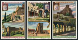 Liebig Set Of 6 Cards - Tresors Architecturaux Du Latium - Liebig