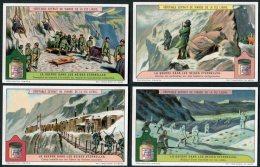 Liebig Set Of 6 Cards -  La Guerre Dans Les Neiges Eternelles S1179 - Liebig