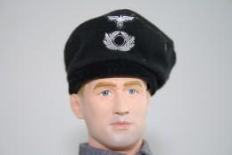 Vintage DRAGON IN DREAMS PARTS : GERMAN PANZER DIVISION HAT - Original - Scale 1/6 - DRAGON DID - Action Man