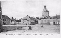 ¤¤   -   25   -   COUCY-le-CHATEAU   -   La Place De L'Hôtel De Ville   -  ¤¤ - Francia