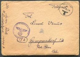 1944 DRFeldpost Cover + Letters Feldpost 10299B Bergen Norway - Briefe U. Dokumente
