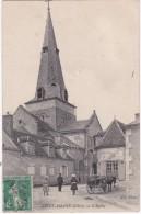 SAINT-AMAND - L'Eglise - Attelage - Animé - Saint-Amand-Montrond