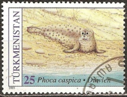 Turkménistan - 1993 - Phoque - YT 44 Oblitéré - Mammifères Marins