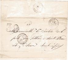 Charente Inférieure Taxe 30 Direction Départementale Des Postes - Postmark Collection (Covers)