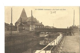LE CHESNE - LE CANAL ET LE PONT - Le Chesne
