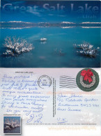 Great Salt Lake, Utah, United States US Postcard Posted 2015 Stamp - Andere