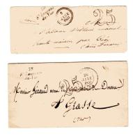 Cursive 78 St Laurent Du Var (maintenant Alpes Maritimes) Taxe 25 - Postmark Collection (Covers)