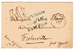 Taxe 40 Et Convoyeur Ligne Poste Ferroviaire Vintimille à Marseille - Postmark Collection (Covers)