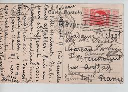 TP 74 S/CP Parc De Tervueren C.Bruxelles Nd 7/7/1912 +Griffe Tervueren V.Auffay Puis Bourg-Achard C.d'arrivée PR3509 - Postmark Collection