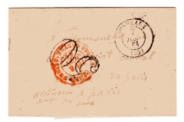 Paris Taxe 30 Annulée Section Des Contre-seings - Postmark Collection (Covers)