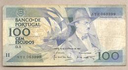 Portogallo - Banconota Circolata Da 100 Scudi - 1987 - Portugal