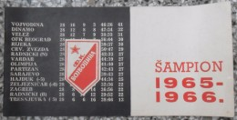 F.K. VOJVODINA ŠAMPION 1965 - 1966 - Livres
