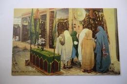 CPA TUNISIE TUNIS LEHNERT ET LANDROCK. Souk Et Tombeau De Saint. - Tunisie