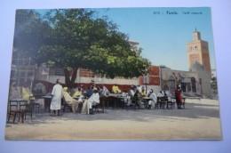 CPA TUNISIE TUNIS LEHNERT ET LANDROCK. Café Maure. - Tunisie