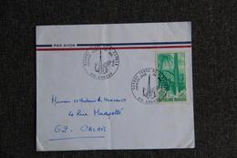 Enveloppe Timbrée ,GUYANE FRANCAISE, KOUROU, Terre De L'Espace - Guyane Française (1886-1949)
