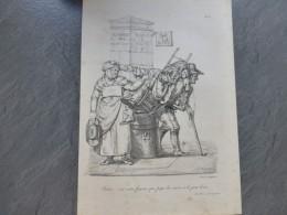 Paris, Barrière Des Bonshommes, Cocher, C'et Notre Femme Qui Paie La Course,  Litho  Originale Vers 184   ; Ref 421  G04 - Estampes & Gravures