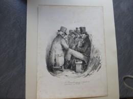 Le RENTIER Bien Pensant à 5% Devient Diable à 4%, Litho  Originale Vers 1850,  ; Ref 424  G04 - Estampes & Gravures