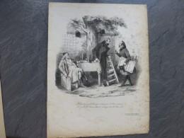 Débats Entre CLASSIQUES Et ROMANTIQUES,  LITHO Originale De Bellangé Vers 1830,   ; Ref 449 G04 - Estampes & Gravures