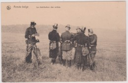 CP - Miitaire - Armée Belge - La Distribution Des Ordres. - Manoeuvres