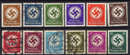 DR Dienstmarken 1942/1944, Mi D 166-177, Gestempelt, Ungeprüft [240916XVII] - Officials