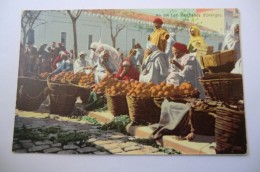 CPA TUNISIE TUNIS LEHNERT ET LANDROCK. Les Marchands D Oranges. - Tunisie