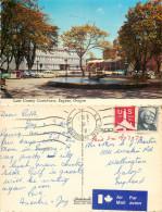 Lane County Courthouse Cars, Eugene, Oregon, United States US Postcard Posted 1969 Stamp - Eugene