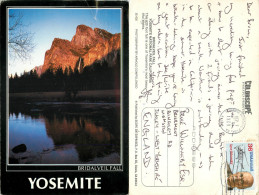Bridalveil Fall, Yosemite National Park, California, United States US Postcard Posted 1989 Stamp - Yosemite
