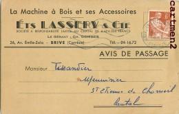 BRIVE MACHINE A BOIS ETABLISSEMENTS LASSERY § COMPAGNIE PUBLICITE METIER ENTREPRISE COMBES 19 CORREZE - Brive La Gaillarde