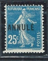 "FR Instruction YT 140a-CI 2 "" Semeuse 25c. Bleu "" Neuf** - France"