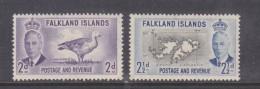 Falkland Island,  George VI , 1952, 2d, 2 1/2d,  MH * - Falkland