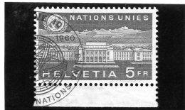 1960 Svizzera - Palais Des Nations 5 Fr. - Officials