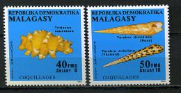 Rep. Madagascar**  N° 983/984 - Coquillages - Madagascar (1960-...)