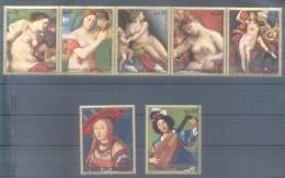NUDE NACKT DESNUDO NUDO NU NUS PEINTURE PARAGUAY SERIE COMPLETA DEL MUSEO DE VIENA  VIENNE AUSTRIA AÑO 1972 PAINTINGS - Desnudos