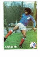 Cpm - Sport FOOTBALL - Gérard JANVION - Publicité ADIDAS - FFF - Joueur Ballon - Calcio