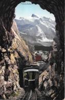 PILATUSBAHN → Bahn Fährt Aus Dem Tunnel Mit Blick Auf Den Titlis, Ca.1920 - NW Nidwald