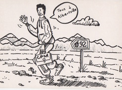 JO ALBERTVILLE 1992 - Illustrateur DAVID D.P. - 150 Ex - édition Des Escargophiles Collection 1991 N17 - Manifestations