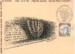 13602 Italia, Special Card And Postmark 1995 Nuoro  Olocaust Exhibition,  Mostra Su Olocausto - Judaika, Judentum