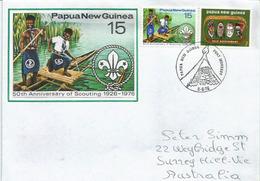 PAPUA NEW-GUNEA.PAPOUASIE. 50 Ans Du Scoutisme En Papouasie, Lettre Adressée En Australie - Lettres & Documents
