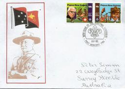 PAPUA NEW-GUNEA.PAPOUASIE. 75 Ans Du Mouvement Scout En Papouasie, Lettre Adressée En Australie - Papouasie-Nouvelle-Guinée