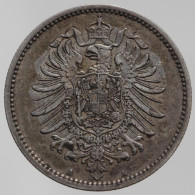 Allemagne - 1 Mark 1881 - [ 2] 1871-1918: Deutsches Kaiserreich