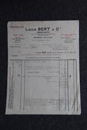 Facture Ancienne, BARSAC, LOUIS BERT, Négociant. - France