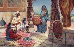 7959. CPA INDE ILLUSTRATEUR. LA RECOLTE DES ROSES. EDITEUR PARIS - India