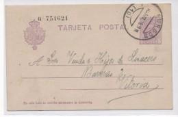 3070 Entero Postal Burgos 1928 Alfonso Xlll Nº57na