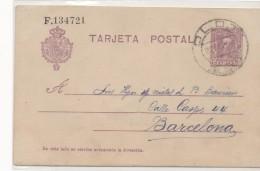 3070 Entero Postal Olot   Gerona Girona 1926 Alfonso Xlll Nº 57