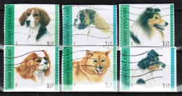 2008 Finland, Dogs Complete Set Used On Paper.