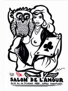 CPM  CHAMPERET Carte De Salon Amour Femme Erotisme Eros Chouette Carte à Jouer Tirage Limité JIHEL / LARDIE - Lardie